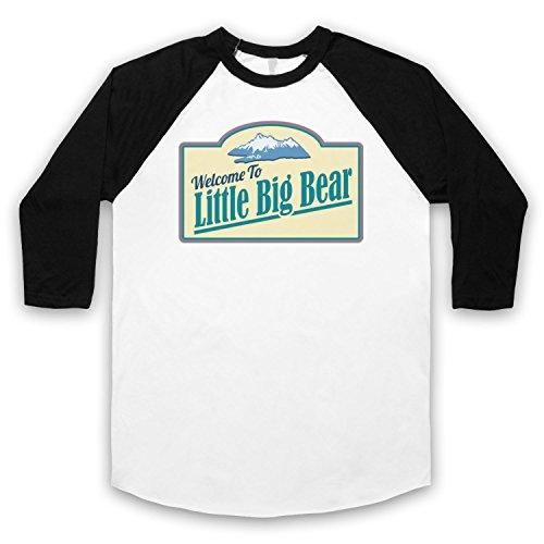 Tin Star Little Big Bear 3/4 Manches Retro T-Shirt de Base-ball
