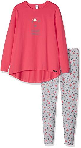 Skiny Mädchen Wonderland Sleep Girls Pyjama lang Zweiteiliger Schlafanzug, Mehrfarbig (Flash Red 7252), 152