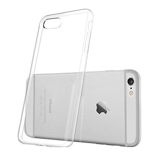 Hülle für Iphone 6 Plus/6s Plus,NONZERS Transparent und Kristallklar-Premium Kratzfest Gelbverfärbung verzögern Weiche Silikon Schutzhülle TPU Bumper Case für iPhone 6Plus/6s Plus