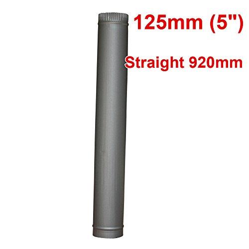Lincsfire 12,5cm / 15cm Kamin-Ofenrohr für Holzverfeuerung im Holzofen, Multibrennstoff-Ofen -