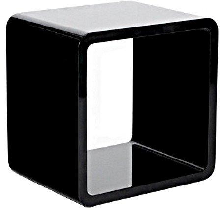 Cube en Bois laqué Noir pour rangement 45x35x45cm