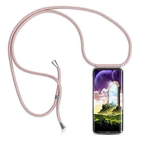 Handykette Handyhülle mit Band für Samsung Galaxy S9 Plus Cover - Handy-Kette Handy Hülle mit Kordel Umhängen -Handy Halsband Lanyard Case/Handy Band Halsband Necklace