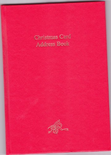 Christmas Card Large Address Book (Red)