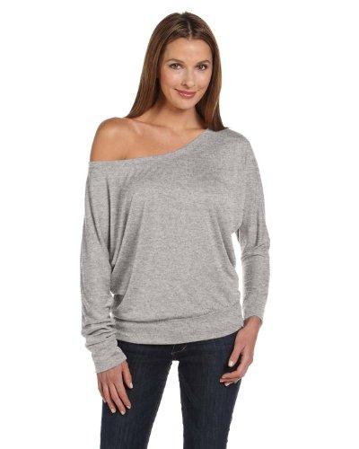 Flowy drapée Dolman Bella T-shirt pour femme Charcoal Marble