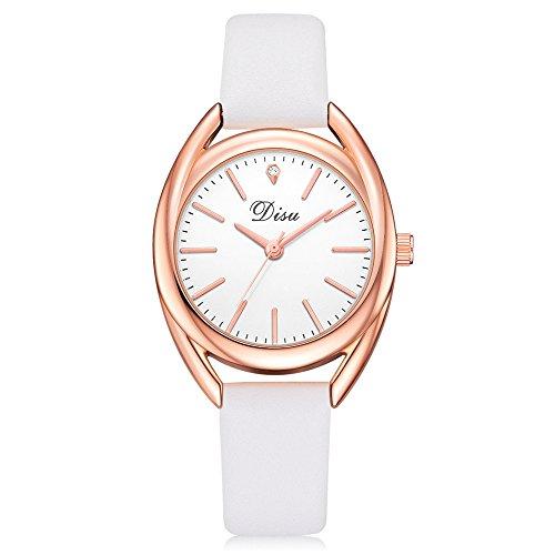 Uhren Damen Art und Weisefrauen Retro Armbanduhr Lederband Uhr Frauen Quarz Analog Uhr Handgelenk...