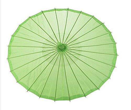 ANKKO Chinesischen Japanischen Stil Bambus Sonnenschirm Tanzen Regenschirme (Grün)