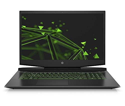 HP Pavilion Gaming 17-cd0218ng (17,3 Zoll / FHD IPS 60Hz) Gaming Laptop (Intel Core i5-9300H, 8GB DDR4 RAM, 512GB SSD, Nvidia GeForce GTX 1650 4GB GDDR5, Windows 10 Home) schwarz / grün