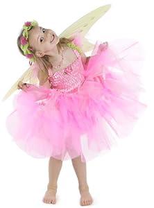 Gizmos Grandes Imitaciones - disfraz de hada para niña (tamaño medio, color rosa) (de 4/6 años)