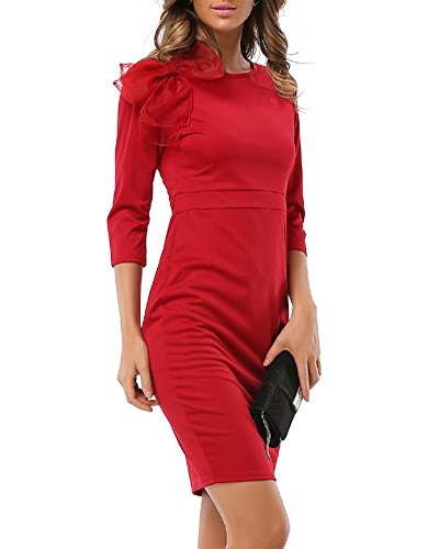 Robe rouge crayon pas cher