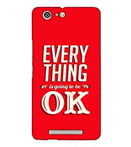Fuson Designer Back Case Cover for Gionee Marathon M5 (Every thing is going to be ok)