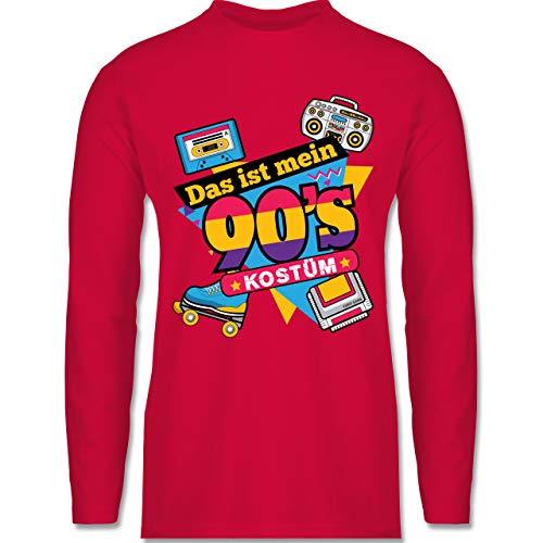 Shirtracer Karneval & Fasching - Das ist Mein 90er Jahre Kostüm - M - Rot - BCTU005 - Herren - 90er Jeans Kostüm