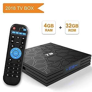 tv box android 8.1 4gb 64 gb vocale  - Android 8.1 TV BOX, Android Box con telecomando ...