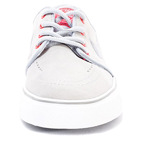 Nike Stefan Janoski (Gs), Chaussures de Skate Garçon, Noir Multicolore - Gris / Rojo / Blanco (Wlf Gry / Cl Gry-Brght Crmsn-Whi)