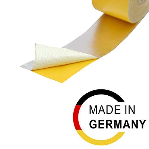 3m Alu Fiberglas Gewebe Hitzeschutz band Klebeband selbstklebend bis ca. 550°C | 35mm breit