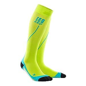 CEP Run Compression Ultralight Socks Black/Green Damen