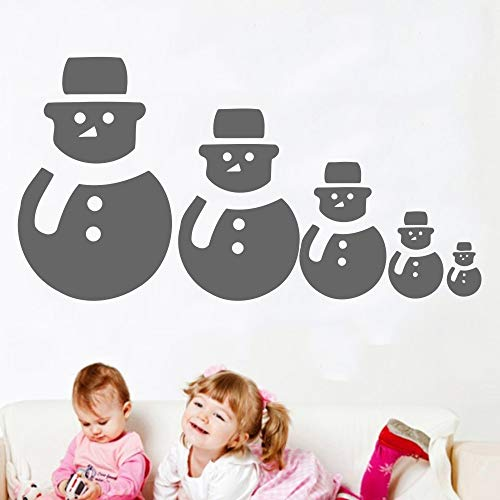 Zaosan Schneemann Linie Kunst Design Wandaufkleber Vinyl Weihnachten Spezielle Dekoration Wandmalerei Home Room -