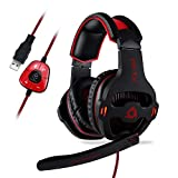 KLIM Mantis Cuffie Gaming USB - Micro Headset da Gaming - Suono Surround 7.1 - Alta Qualità Audio - Cuffie da Gaming con Microfono - Perfette Per PC, PS4 e Switch Games - [ Nuova 2019 Versione ]