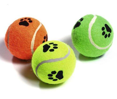 Karlie Tennisbälle mit Squeeker - 3er Set, Spielzeug für Hunde und Katzen, Bälle