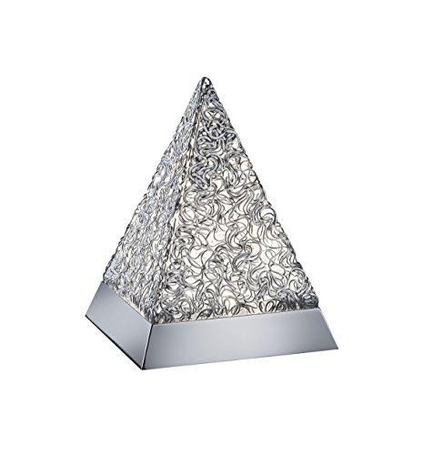 Reality Leuchten LED Stimmungs-Tischleuchte, Aluminium, Integriert, 5.5 W, Chrom, 15,2 x 15,2 x 20,5 cm