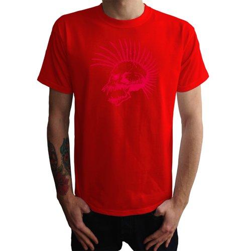 Punk Skull Herren T-Shirt Rot