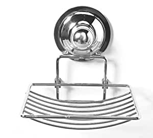 Suction Cup Soap Dish - Soap Holder - Easy push-button installation