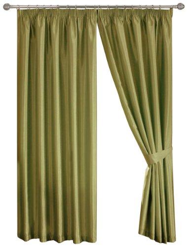 Dreams 'n' Drapes Java Double rideaux à oeillets Vert mousse 230 x 183 cm
