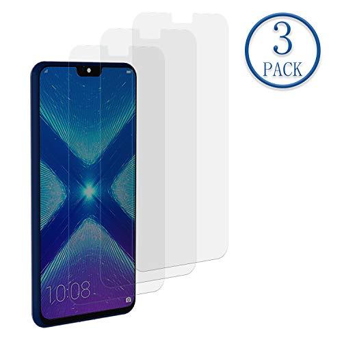 Mr.Twinklelight Huawei Honor 8X Panzerglas,3 Stück Panzerglas Schutzfolie für Huawei Honor 8X,Anti-Kratzen,Anti-Bläschen,Bildschirmschutzfolie, gehärtetes Glas mit 9H Härte,2.5D Ro& Edge