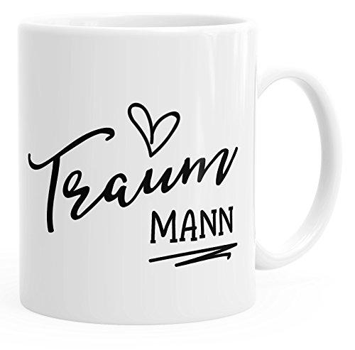 MoonWorks Geschenk-Tasse für Freund Mann Traummann Herz Partner Kaffee-Tasse Einfarbig Weiß...