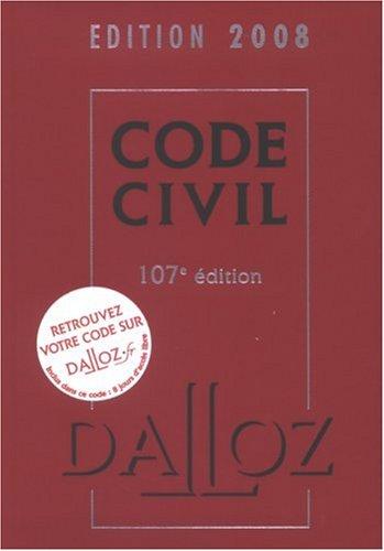 Code civil 2008 par Alice Tisserand-Martin