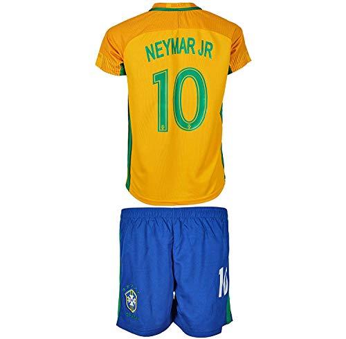 Brasilien Neymar #10 Heim Trikot und Shorts mit Socken Kinder und Jugend Größe