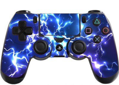 the grafix studio Blue Electric Playstation 4 (PS4) Controller Sticker/Skin/Decal PS22