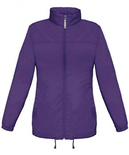 shirt-instyle Basic Lady Windjacke Regenjacke Jacke Waserabweisend mit Kapuze viele Farben Größe XS-XXL