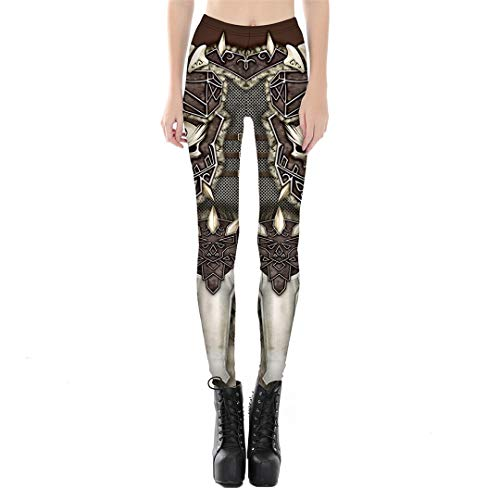 Hunter Kostüm Demon - 3D Gedruckt Fitness Push Up Workout Leggings Frauen Gothic Demon Hunter Rüstung Hohe Taille Punk Rock Hosen S