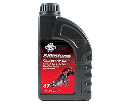 Silkolene, olio lubrificante per veicoli da corsa Castorene R40S, base con olio di ricino, rafforzata sinteticamente, codice prodotto 757144, da 1 l