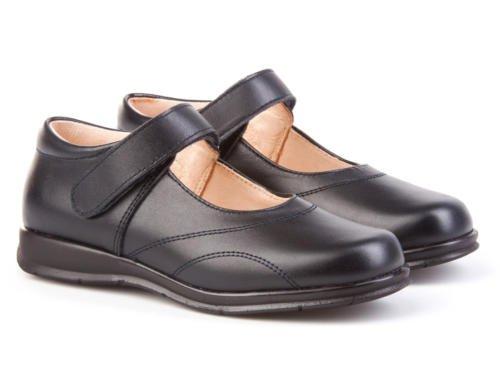 Merceditas COLEGIALES pour filles tout cuir, Mod. 461. Chaussure Enfant Made in Spain, garantie de qualité. Bleu Marine