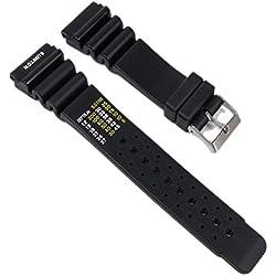 Herzog Ersatzband Uhrenarmband Kunststoff Band 18mm Schwarz 28518