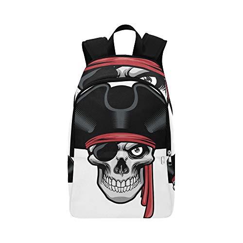 Heftiger Pirat und Hut lässig Daypack Reisetasche College School Rucksack für Männer und ()