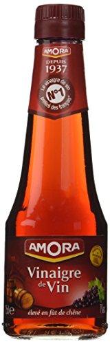 Amora Vinaigre de Vin Rouge Nature 25 cl - Lot de 6
