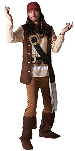 Rubie 's Offizielles Erwachsene 's Disney Captain Jack Pirat Kostüm–XL bis 116,8cm Brust (Disney Jack)