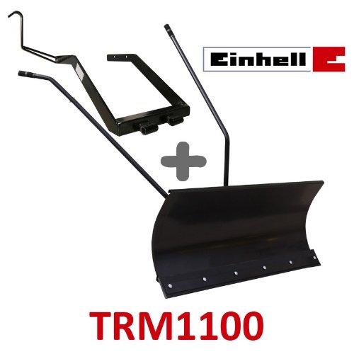 Lame à Neige 118 cm Noire + adaptateur pour Einhell TRM1100