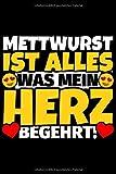 Notizbuch liniert: Mettwurst Geschenke für Mettwurst-Liebhaber lustig