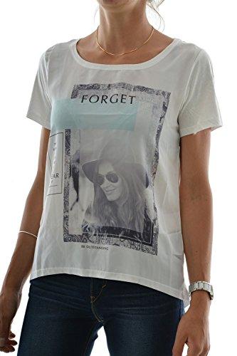 Only Donna Tshirt Maniche Corte, Velo, Stampa Fotografica, Only Taglia 2 Beige