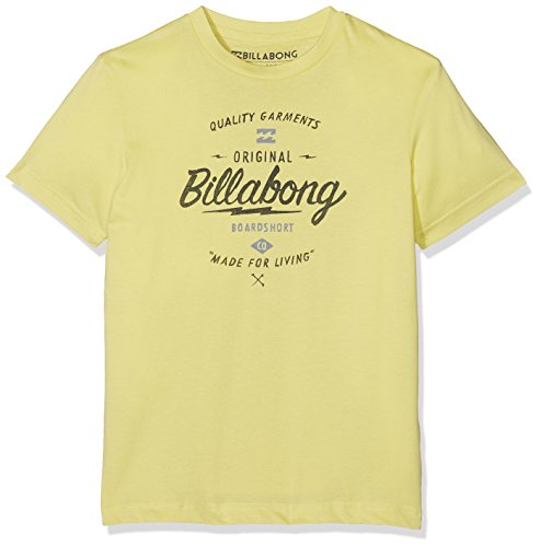 G.S.M. Europe - Billabong Jungen T-Shirt Chopper Boys Short Sleeve Dust Yellow, 16 -