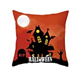 Aiserkly Halloween Ghost Witch Zucca Federa Magical Cat Cushion Covers Decor (H,45x45 cm)