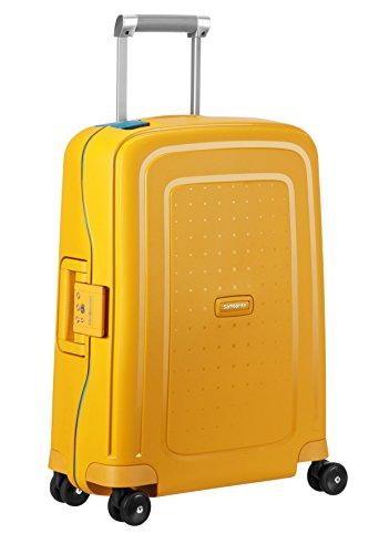 SAMSONITE S'Cure - Spinner 55/20 Bagage cabine, 55 cm, 34 liters,  (Pineapple Yellow/caribb.Bleu)