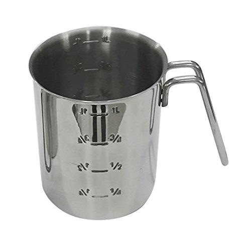 Homyl Pot à Lait Cuisine Mousseur à Lait Acier Inoxydable Pichet Mousser Tasse avec Échelles de Mesure Café, Lait - 1000ml