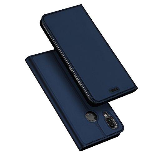 Coque Huawei P20 Lite,DUX DUCIS Étui de Protection Porte-cartes en Cuir Portefeuille Multi-Usage Housse Rabattable Fermeture Magnétique par Clapet ,TPU Bumper Case pour Huawei P20 Lite