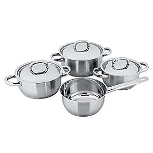 CS Kochsysteme 040024Batterie de cuisine en acier inoxydable 7pièces, argent, 68x 33,29x 34,4cm