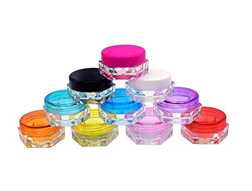 TININNA 25 Pcs 5ml 5 Gramme Pot Contenant en Plastique Vides Boîte Cosmétiquqe Maquillage Stockage Containers Jars pr Fard à Paupières Poudre Crèmes Rose Rouge