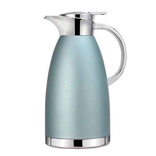 Haosen 1,8 Liter Edelstahl Doppelschicht Vakuum kaffeekanne Haushalt thermosflasche Europäischen Stil thermosflasche - Heiß und kalt dual Gebrauch (Khaki Blau) -